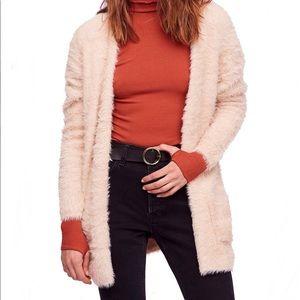 Free People Fauz Fur Cardigan Sweater